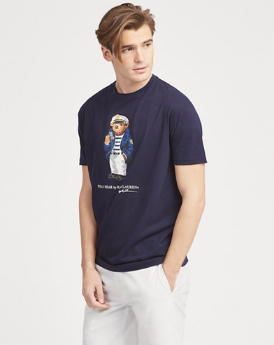 Custom-Slim-Fit T-Shirt mit Bear