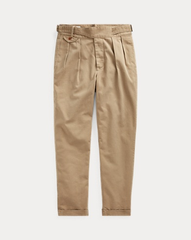 Relaxed Fit Pleated Chinos