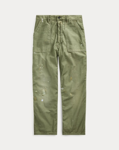 Relaxed Fit Distressed Trouser