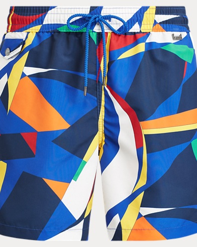 5½-Inch Abstract Swim Trunk