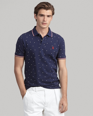 Custom Slim Stars Mesh Polo