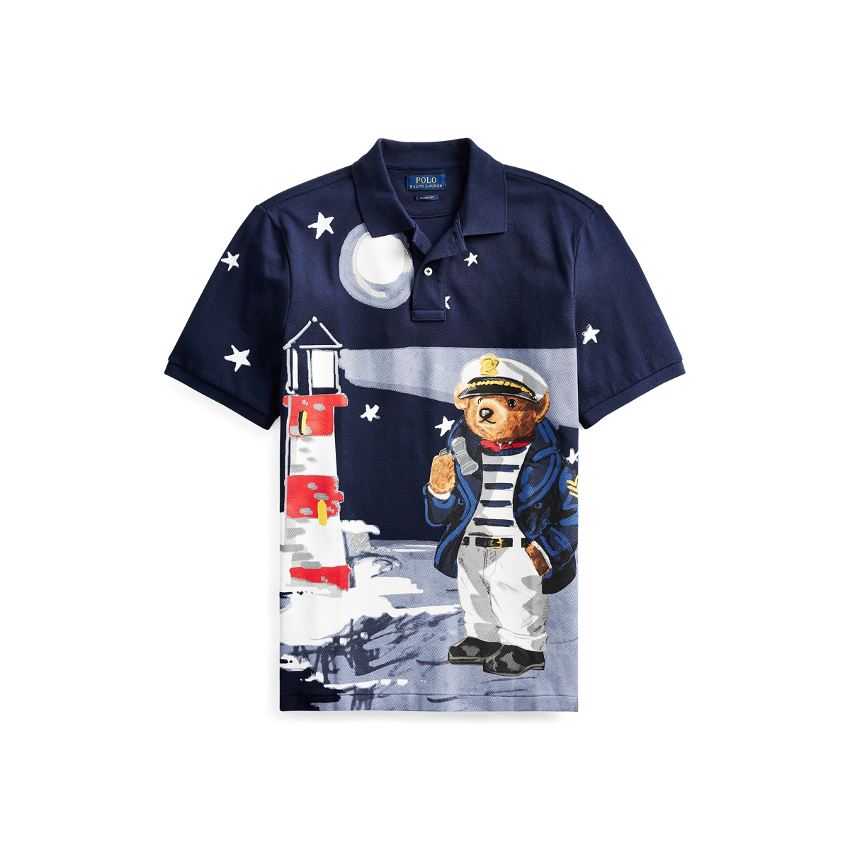 d13473953c4 Classic Fit Nautical Bear Polo
