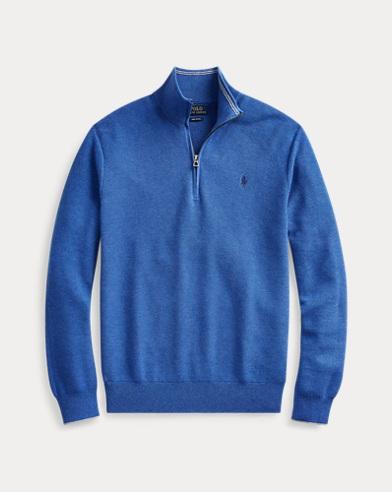 Jersey de algodón con media cremallera