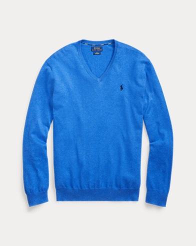 Jersey de algodón Slim Fit con cuello de pico