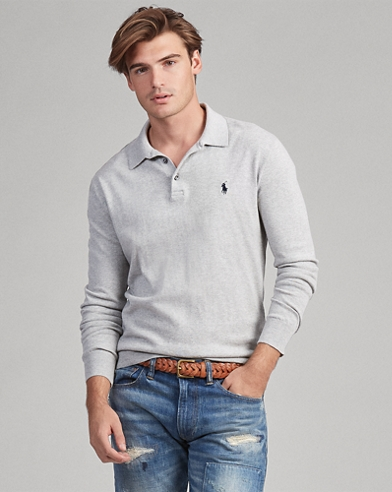 Cotton Polo Sweater a32af95c291