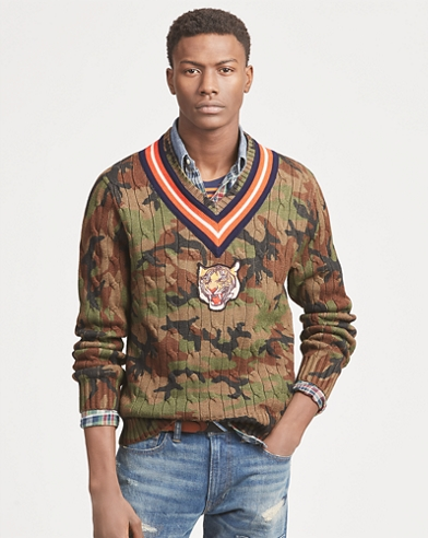 Camo Cotton Cricket Jumper