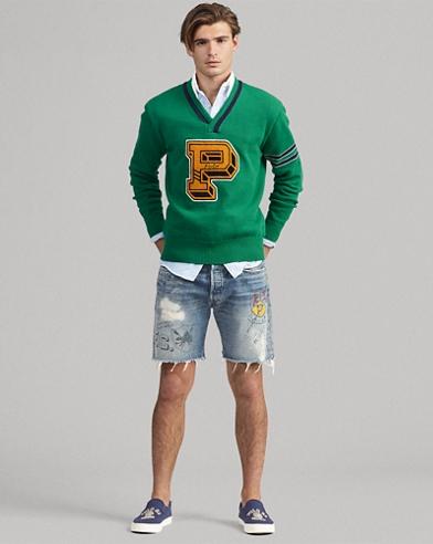 College-Pullover mit Baumwolle