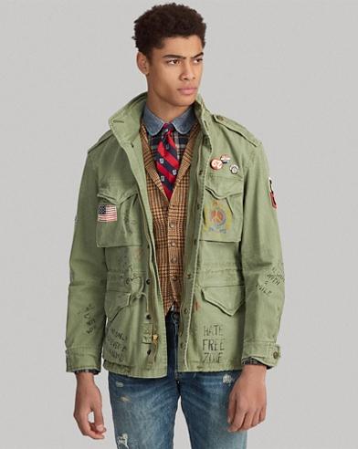 Twill Graphic Field Jacket