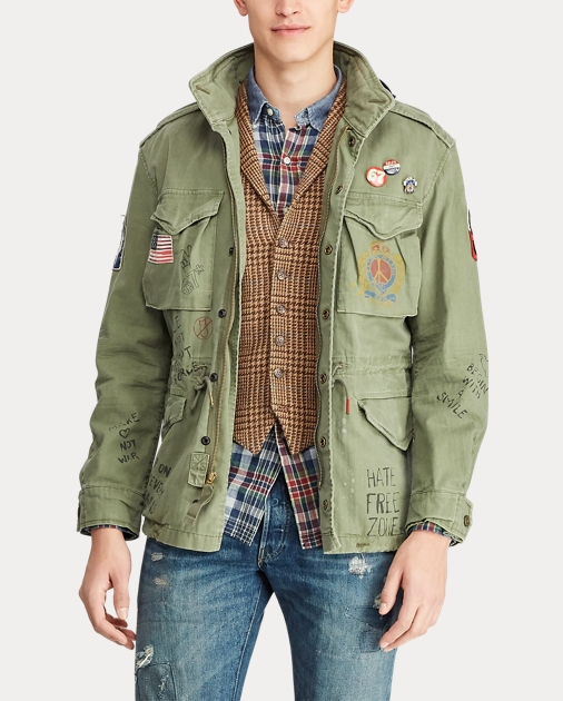 Twill Graphic Twill Jacket Twill Field Graphic Field Jacket mN8n0w