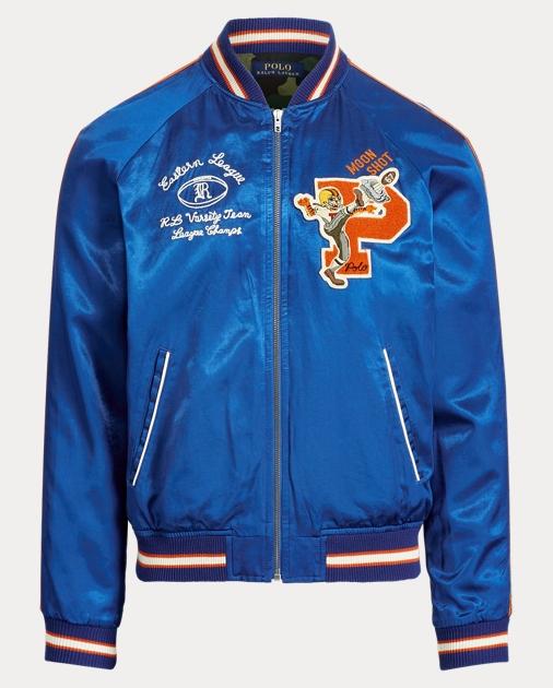 223bfe0725 Satin Souvenir Baseball Jacket