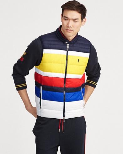 Striped Packable Down Vest