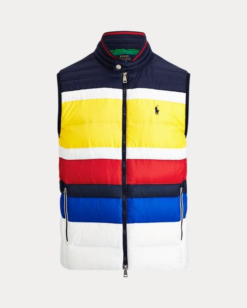35918215e Striped Packable Down Vest