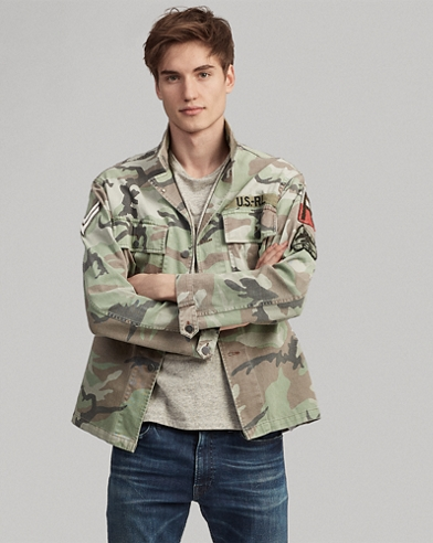 Camo Twill Graphic Overshirt