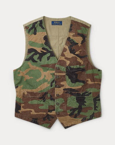 683894c7d65f34 Camo Cotton Canvas Vest