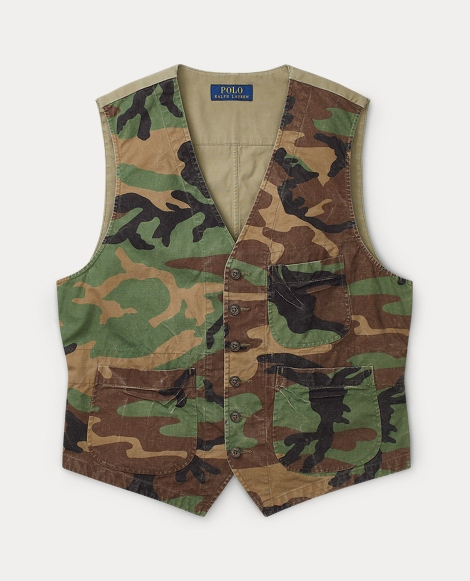 Camo Cotton Canvas Vest