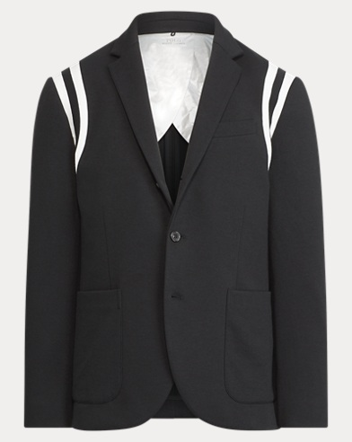 Double-Knit Hooded Blazer