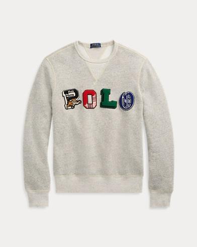 49114271574d56 Fleece-Sweatshirt mit Grafik