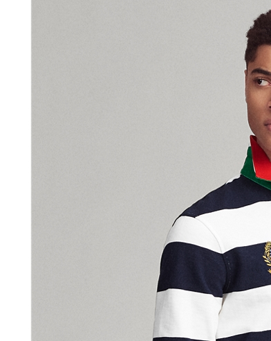 Classic Fit Striped Rugby