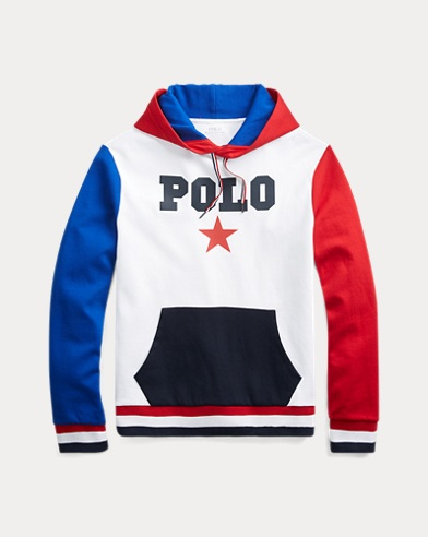 d55be09d03e0 Cotton-Blend Graphic Hoodie. Polo Ralph Lauren