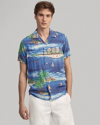 50f5be5dfe5 Classic Fit Tropical Shirt