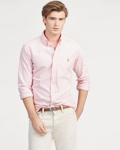 Slim Fit Striped Oxford Shirt