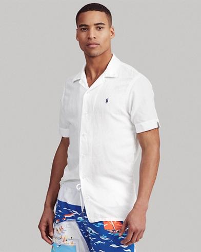 Classic Fit Linen-Blend Shirt