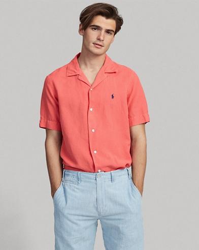 Classic-Fit Hemd mit Leinen