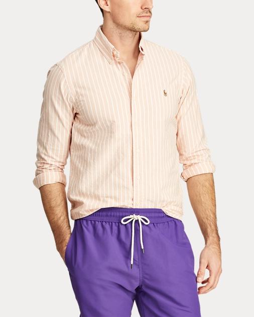 36c6cdf979 Polo Ralph Lauren Slim Fit Striped Oxford Shirt 4