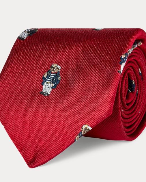 multiple colors 980f7 56229 Captain Bear Silk Narrow Tie