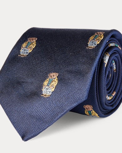Cravatta in seta Slicker Bear