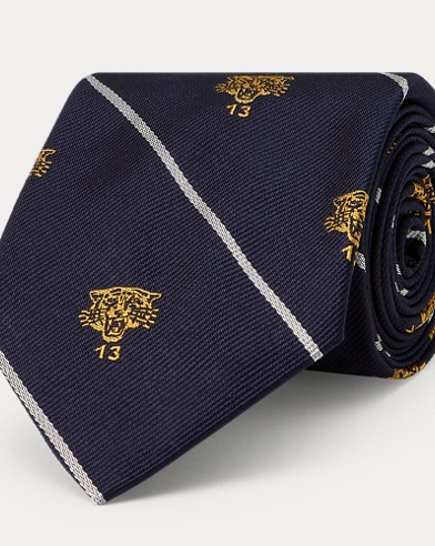 Lion Silk Narrow Club Tie
