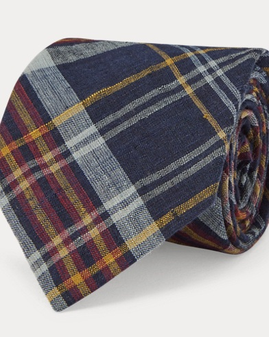 Cotton Madras Narrow Tie