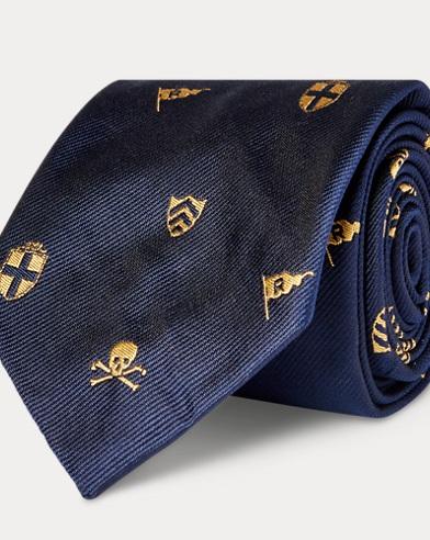 Yacht Silk Narrow Club Tie