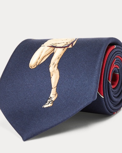 Print Silk Narrow Tie