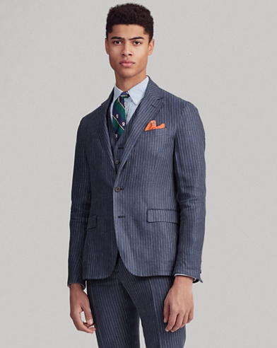 Polo Soft Striped Suit Jacket