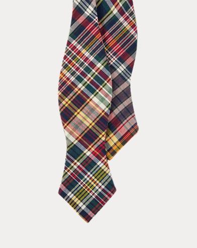 Indigo Madras Bow Tie