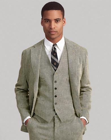 Polo Linen Herringbone Vest