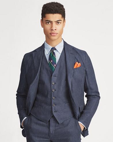 Polo Striped Linen Vest