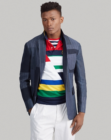 Blazer Morgan en patchwork