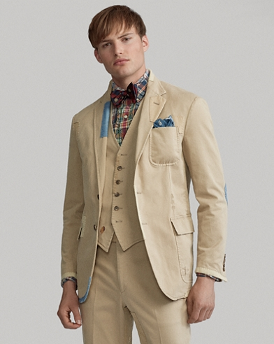Distressed Chino Suit Jacket