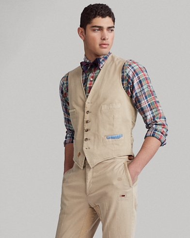 Distressed Chino Vest