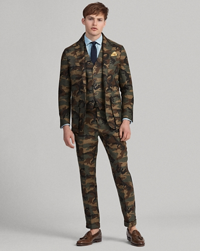 Giacca Morgan camouflage in tweed