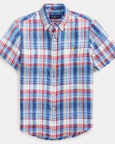 71eb751c0f42 Classic Fit Plaid Linen Shirt. Take ...