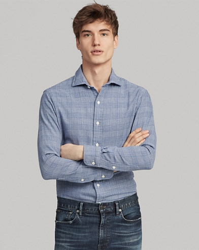 Slim Fit Glen Plaid Shirt