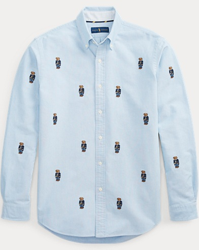 Classic Fit Bear Oxford Shirt