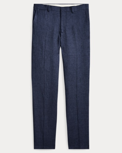 Polo Indigo Linen Suit Trouser
