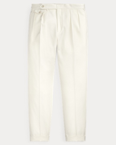 Pantaloni in gabardine di lana