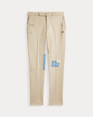 Distressed Chino Suit Trouser