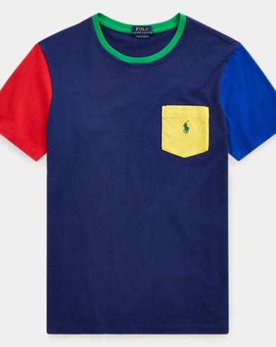 T-shirt rayé classique à poche
