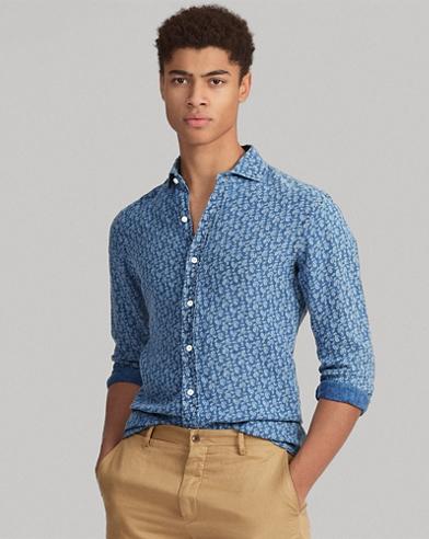Camicia motivo cashmere Classic-Fit
